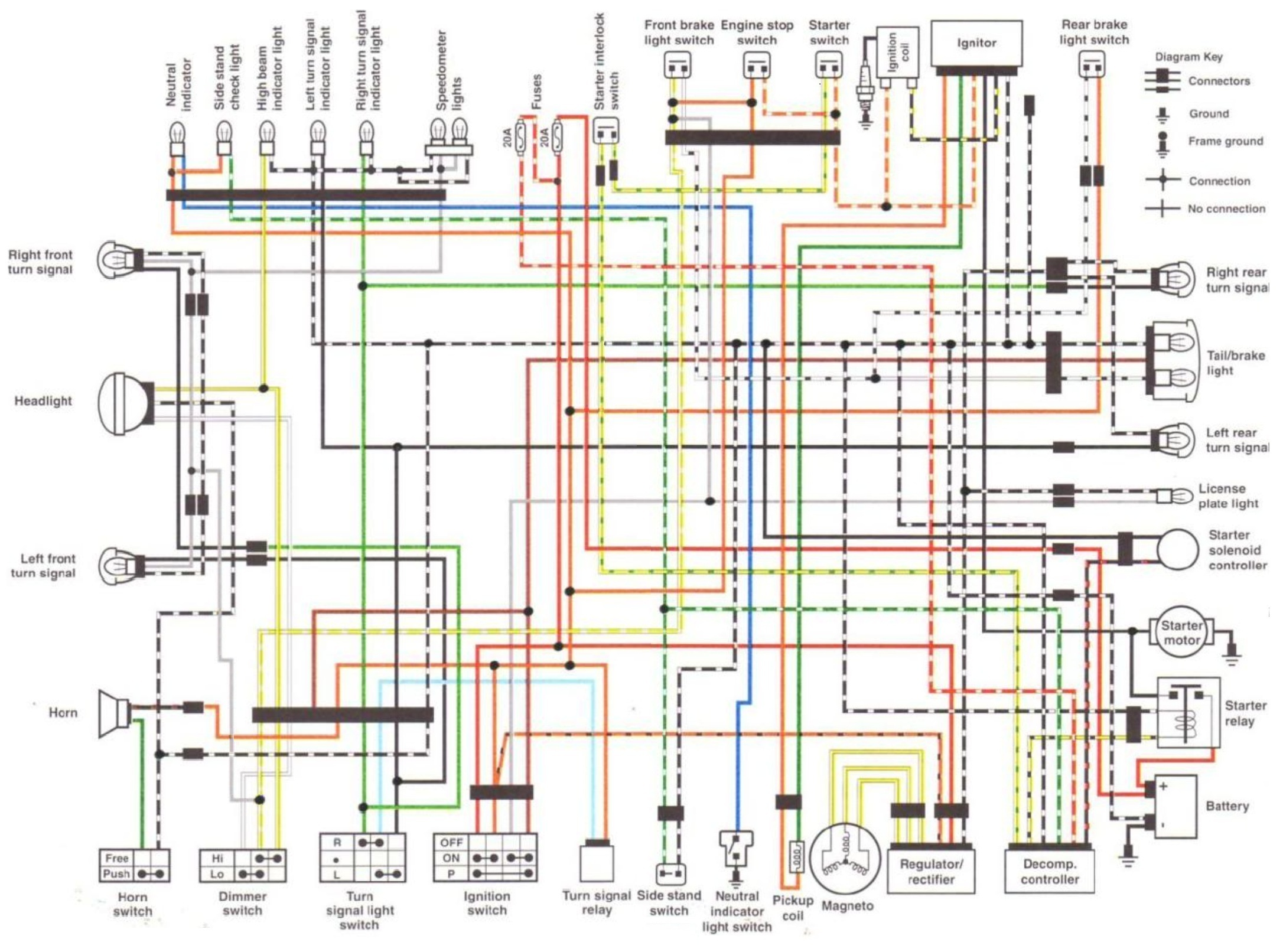 wiring suzukisavage com clymer's wiring diagram in one image Drag Specialties Motorcycle Parts Catalog at gsmportal.co